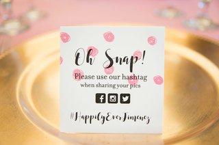 signage-social-media-hashtag-facebook-instagram-twitter-pink-polka-dots-california-wedding