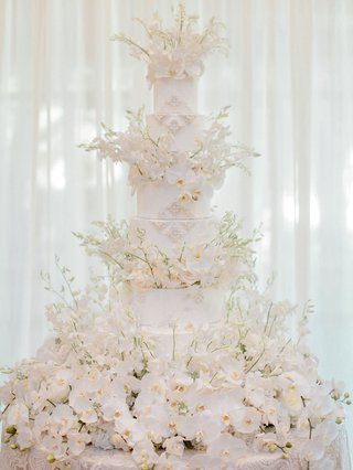 wedding-cake-with-orchids-and-pearl-beading-from-brides-dress-beautiful-masterpiece-ivory-white