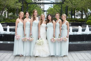 bridesmaids-in-amsale-bride-in-vera-wang