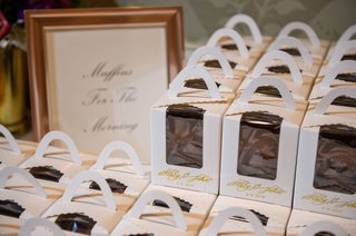 wedding-favors-in-cute-custom-boxes-calligraphy-bran-muffins-for-the-morning-after-the-wedding-food