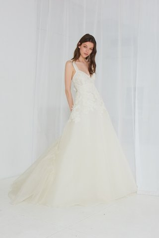 shelton-by-amsale-spring-2018-silk-organza-ball-gown-french-lace-pleated-train-silk-satin-strap