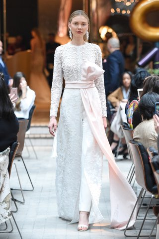 sachi-babi-spring-summer-2018-coat-dress-dimensional-floral-applique-pearls-tree-of-life-pink-sash