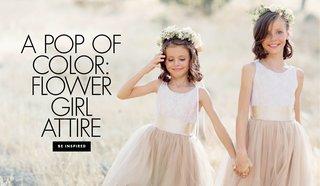 a-pop-of-color-flower-girl-attire-alternatives-to-an-all-white-flower-girl-dress