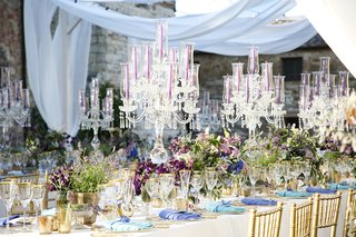 purple-tapers-candles-crystal-candelabra-turquoise-and-periwinkle-napkins