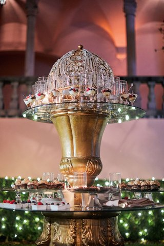 wedding-dessert-table-on-ornate-gold-and-crystal-table