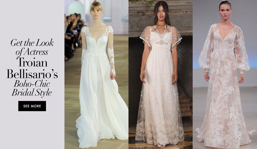 Troian Bellisario Is Married Be Inspired By Her Bridal Look