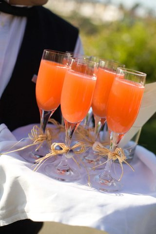 wedding-ceremony-lemonade-in-champagne-glasses