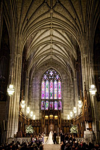 duke-university-chapel-wedding-with-stained-glass-window