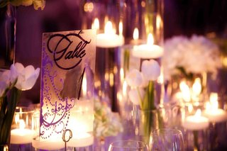 wedding-table-number-with-monogram-and-purple-chandelier