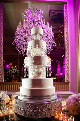 five-layer-cake-with-orchid-and-crystal-details-on-custom-stand