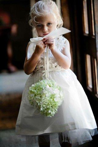 flower-girl-holding-hydrangea-pomander-ball
