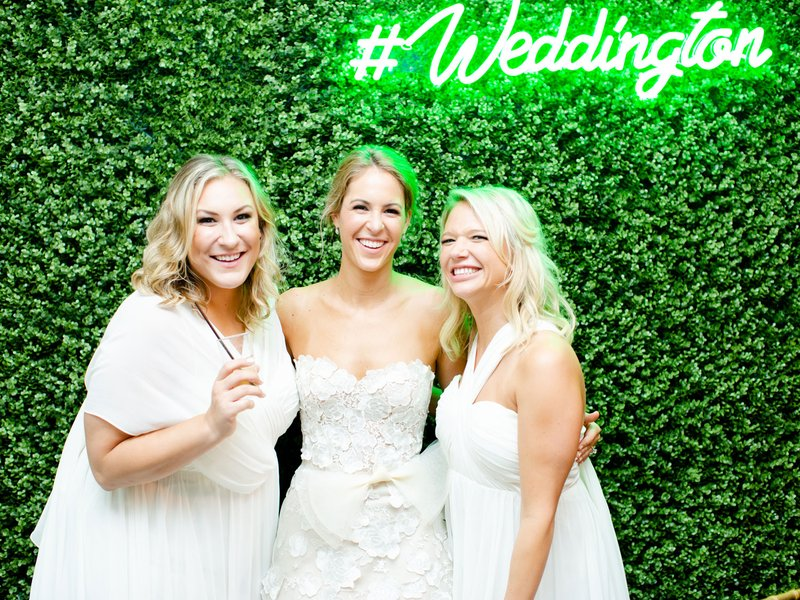Bride with Bridesmaids at Photo Booth