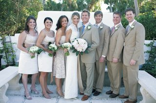 beach-wedding-bride-and-groom-with-wedding-party-in-natural-colors
