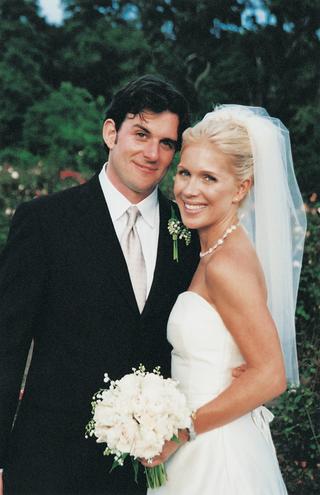 blonde-bride-and-brunette-groom-at-wedding-ceremony