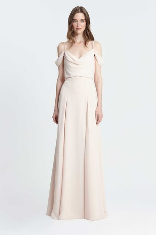 monique-lhuillier-bridesmaids-spring-2017-sheath-off-the-shoulder-straps-chiffon-cowl-neck-dress
