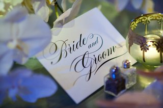 bride-and-groom-in-script-calligraphy-font-on-stationery