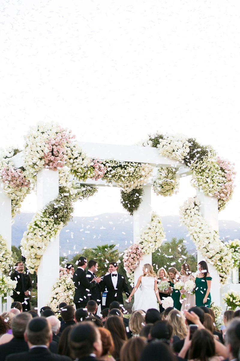 Outdoor Ceremony with Confetti Celebration