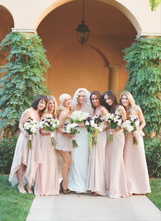 simone-harouche-in-a-carolina-herrera-gown-bridesmaids-in-pale-pink-dresses-and-christina-aguilera