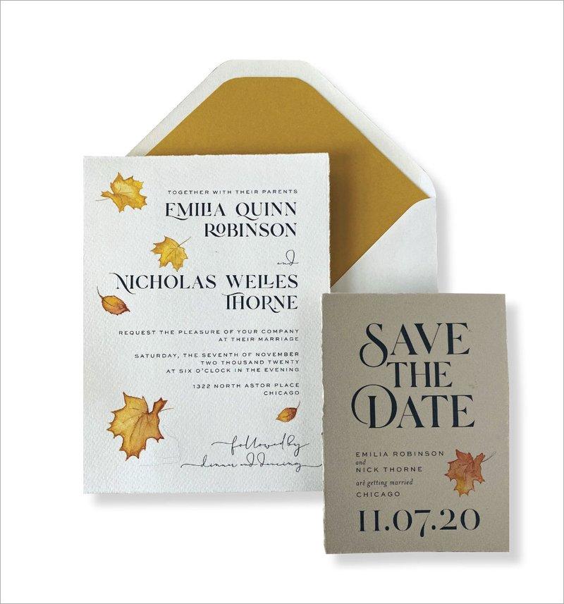 Fall Wedding Invitation by Elizabeth Grace
