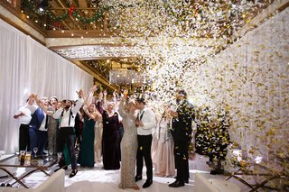 A Charming Fete New Year's Eve Wedding confetti hats party