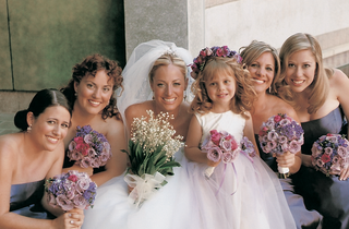 flower-girl-and-bridesmaid-nosegays
