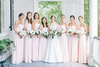 bride-bridal-party-blush-ensembles-classic-feminine-colors-southern-traditional-estate