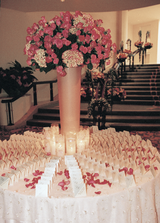 white-place-cards-and-pink-flowers