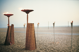 fire-torches-and-lamps-on-sand