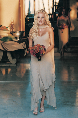tan-bridesmaid-dress-and-matching-shawl