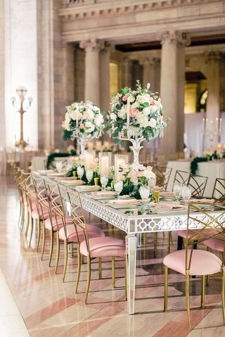 A Charming Fete feminine romantic reception pink and gold