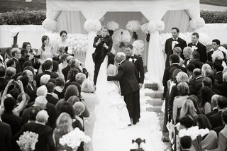 black-and-white-photo-of-father-giving-bride-away