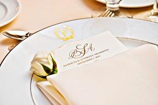 gilt-rimmed-china-plates-with-elegant-menu-card