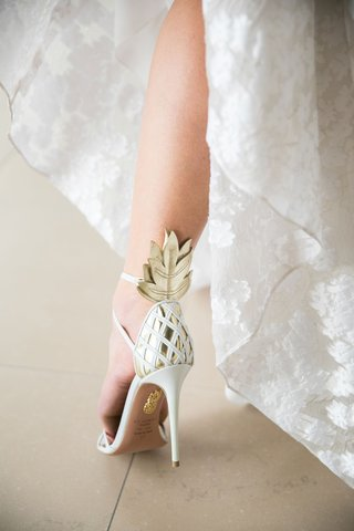 bride-with-funky-wedding-heels-pineapple-gold-ankle-detail-with-criss-cross-heel-embellishments