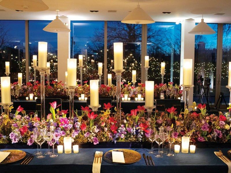 Bold Wedding Reception Table Décor