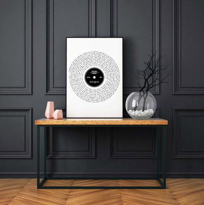 Songfinch Personalized Song & Vinyl Print