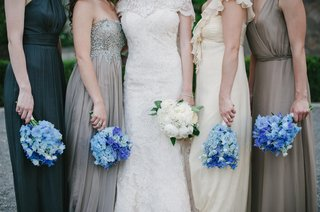 bridesmaid-bouquets-of-blue-flowers