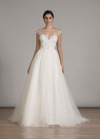 liancarlo-fall-2016-illusion-cap-sleeve-tulle-ball-gown-wedding-dress
