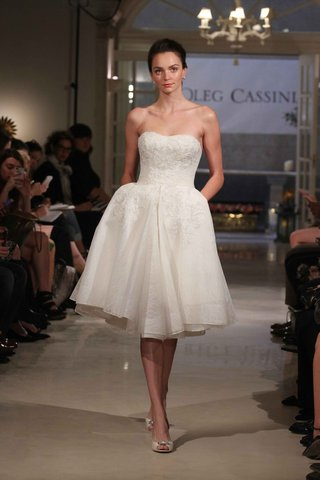 oleg-cassini-spring-2016-short-wedding-dress-with-strapless-bodice