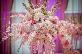 ashley-alexiss-wedding-reception-centerpiece-white-dendrobium-orchid-pink-rose-white-hydrangea