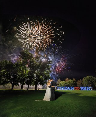 fireworks-at-wedding-reception-bride-and-grooms-names-in-lights