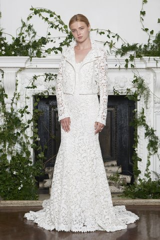 monique-lhuillier-fall-2018-laser-cut-lace-gown-with-matching-lace-motorcycle-jacket
