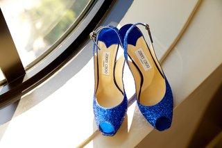 jimmy-choo-blue-glitter-peep-toe-bridal-shoes