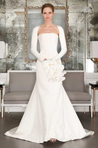 romona-keveza-collection-bridal-spring-2017-crepe-strapless-a-line-wedding-dress-with-shrug