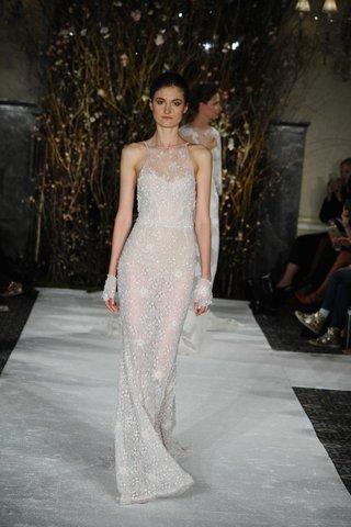 mira-zwillinger-bridal-collection-spring-2017-laurel-halter-sequin-wedding-dress-flower-appliques