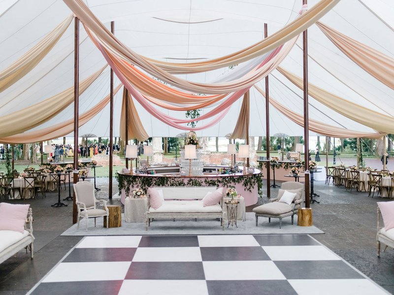 Sailcloth Tent with Drapery & Dance Floor