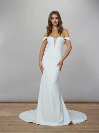liancarlo-spring-2020-bridal-collection-wedding-dress-matte-crepe-gown-off-shoulder-straps-sheath-v
