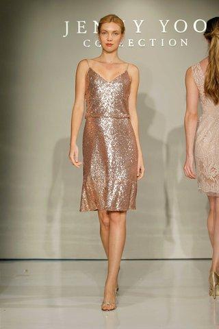 jenny-yoo-bridesmaids-2016-sequin-short-bridesmaid-dress