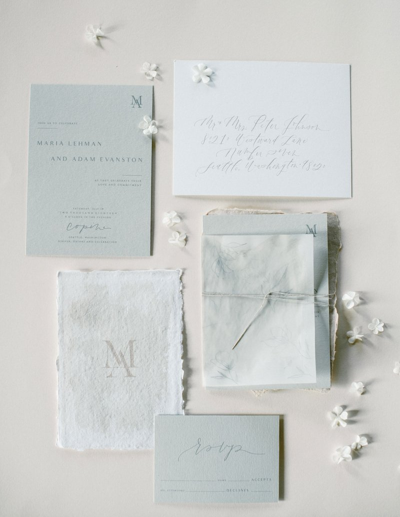 White Wedding Ideas & Invitation