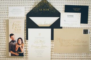 save-the-date-blowing-confetti-confetti-envelope-white-gold-invitation-gold-envelope-wedding