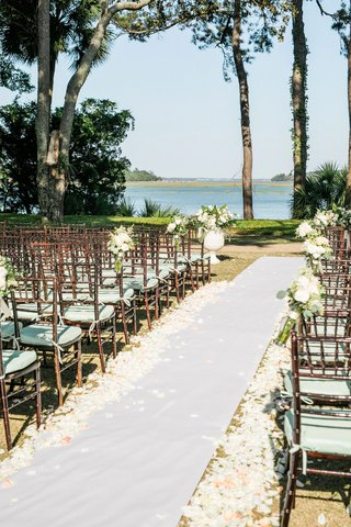 the-original-runner-company-white-non-slip-aisle-runner-white-pink-flower-petals-brown-chairs-mint